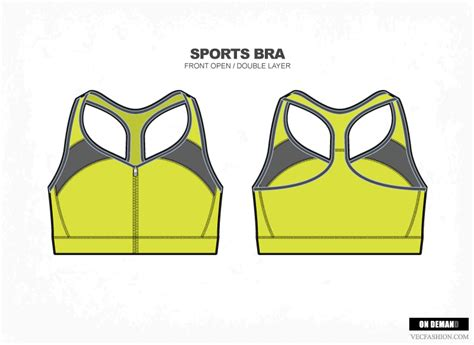 draw template for sport sports bra vector fashion illustrations on