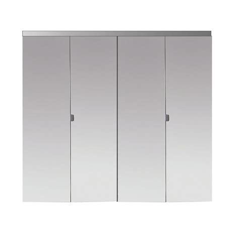 Beveled Mirror Closet Doors Impact Plus 66 In X 80 In Beveled Edge Mirror Solid Mdf Interior Closet Bi Fold Door With