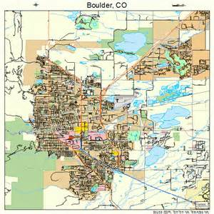 Boulder Colorado Map by Boulder Colorado Street Map 0807850