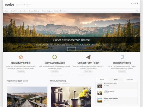 different templates for pages wordpress 35 best free one page parallax wordpress themes 2018