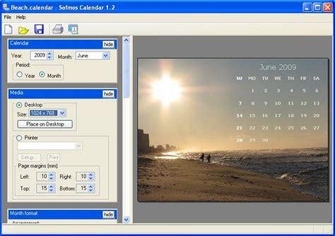 Custom Calendar Maker Softmos Calendar Simple Calendar Creator Program Design