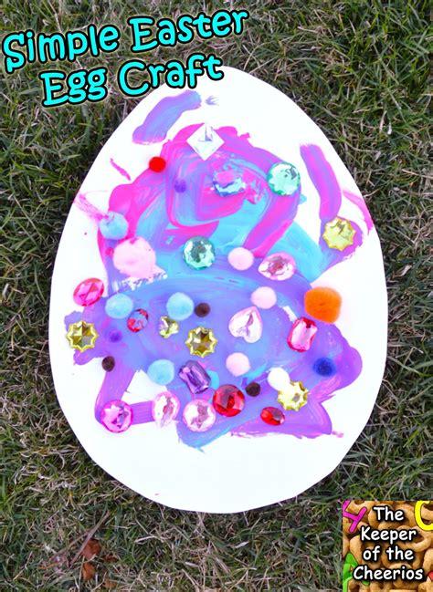 Easter Egg Paper Crafts - simple easter egg paper craft