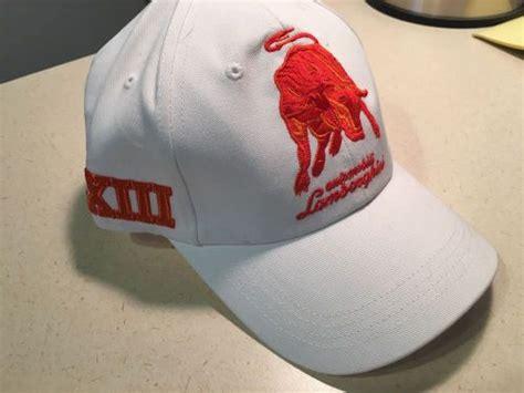 lamborghini hats find lamborghini hat white orange 1963 new genuine oem