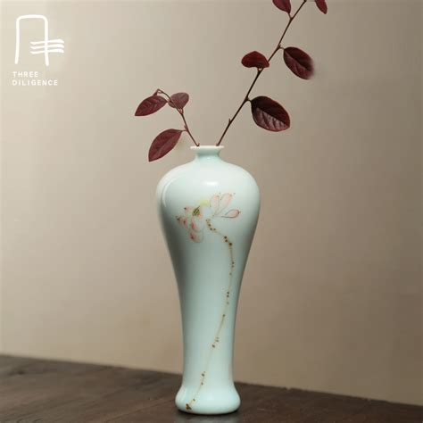 ceramic home decor novelty antique handmade porcelain flower vase ceramic