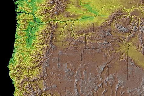 map of oregon landforms oregon state information symbols capital constitution