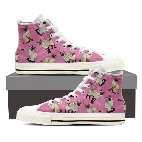 sneakers with cats on them siamese cat pattern shoes groove bags