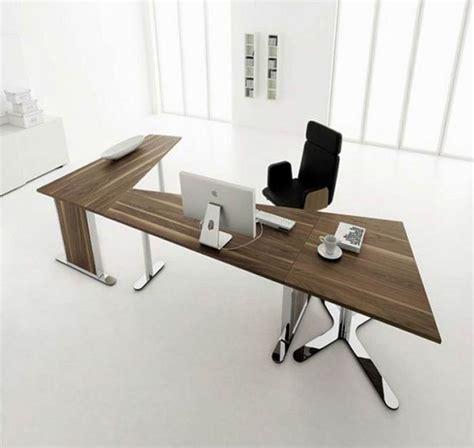 Unique Desk L | unique brown wood functional desk design collections for