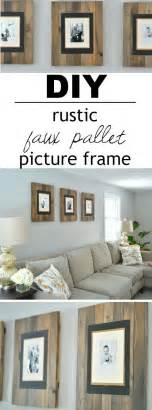 Diy Frame Bathroom Mirror by Best 20 Diy Picture Frame Ideas On Pinterest Picture