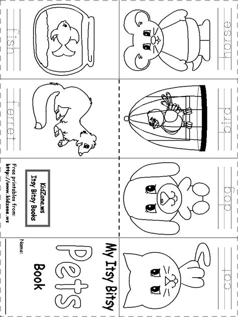 Itsy Bitsy Animals 14 best images of pet animal worksheets preschool pets