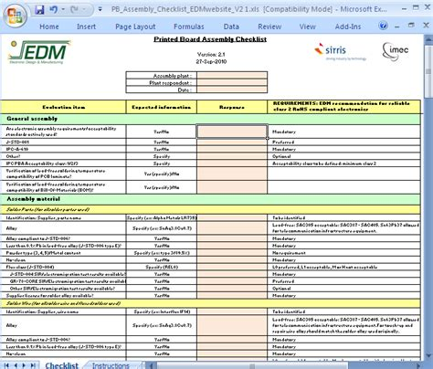 Free Furniture Layout Software Download printed board assembly checklist cedm