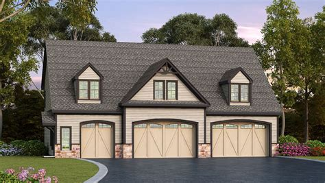 how big is a 3 car garage residential 5 car garage plan 29870rl architectural