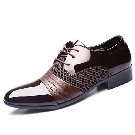 business sneakers large size formal pointed toe lace up business blucher