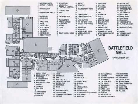layout of battlefield mall springfield mo battlefield mall map adriftskateshop