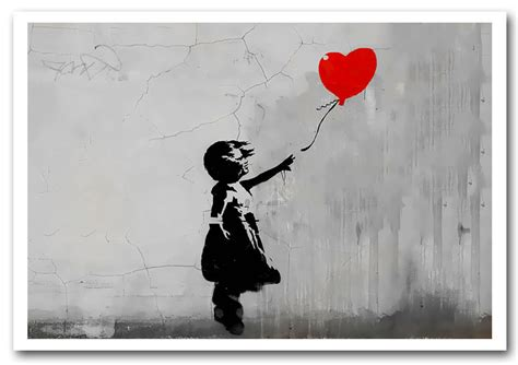 Banksy Wall Stickers Uk love heart balloon grey banksy framed art giclee art print