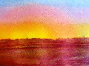 water color sunset the painted prism color project painting a sunset using