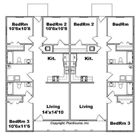 j2070 house plans by plansource inc duplex plan j1138d plansource inc