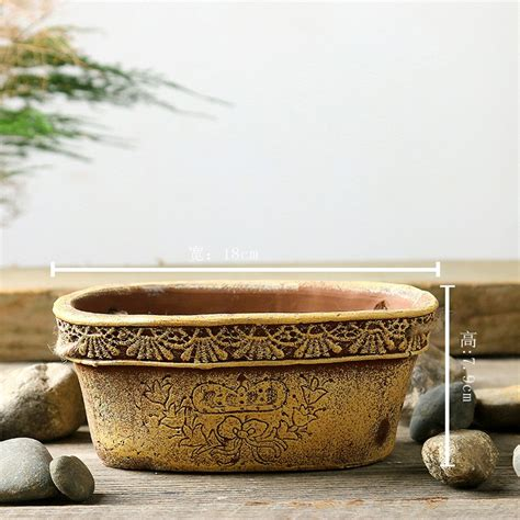 Handmade Decorative Pots - handmade rustic style decorative cement succulent flower