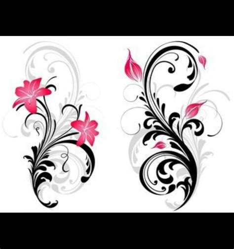 rose and lily tattoos leg filigree with roses lilies or lotus tats