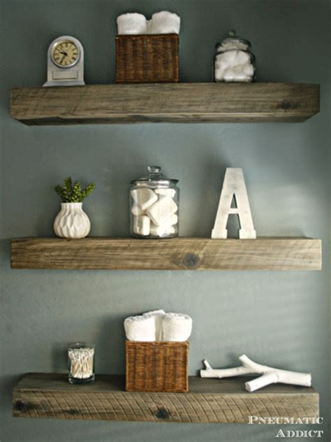 home dzine home diy how to make chunky floating shelves