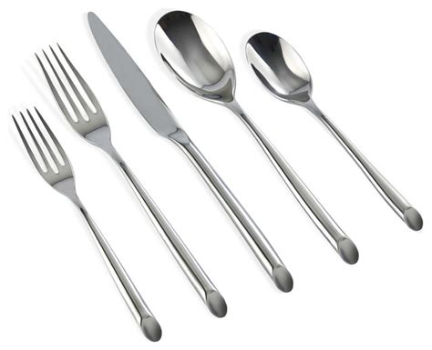 modern flatware sets claudia 20 piece flatware set modern flatware and