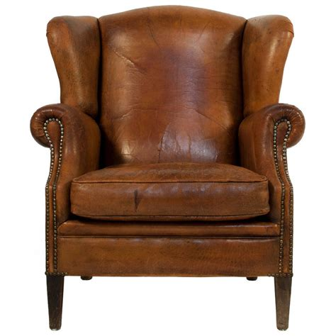 leather wingback chair with ottoman leather wingback chair at 1stdibs