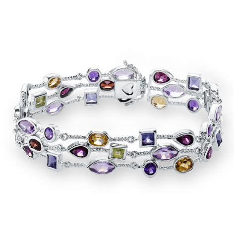 jared multi gemstone bracelet sterling silver
