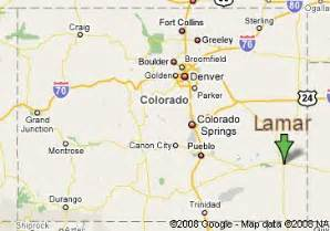 map of lamar colorado map of lamar colorado