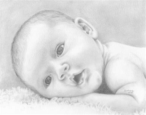 baby doodle drawings sketch newborn baby pencil and in color