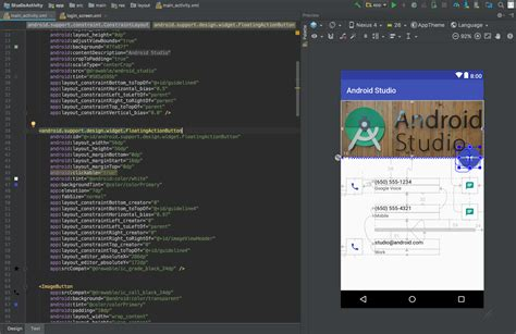 android studio where is the layout editor build a ui with layout editor android studio