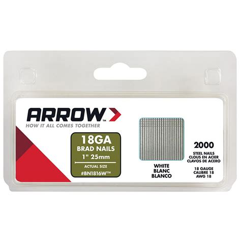 arrow fastener 1 in brad nails 2000 pack bn1816wcs 4