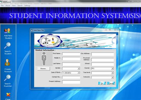 design html form for keeping student record student information system free source code tutorials