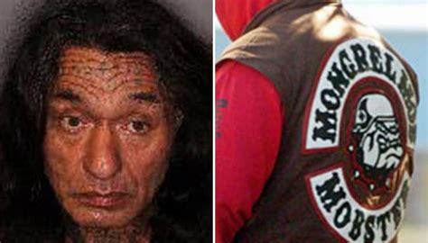 mongrel mob members gather  rotorua  patched