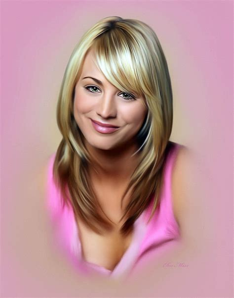 what technique is used on kaley hair kaley cuoco painted by ebn misr www facebook com ebn misr