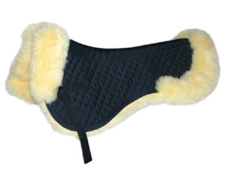 Sheepskin Mat by Bartl Sheepskin Pad With Roll Natal Saddlery