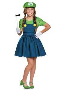 luigi halloween costume tween luigi skirt costume