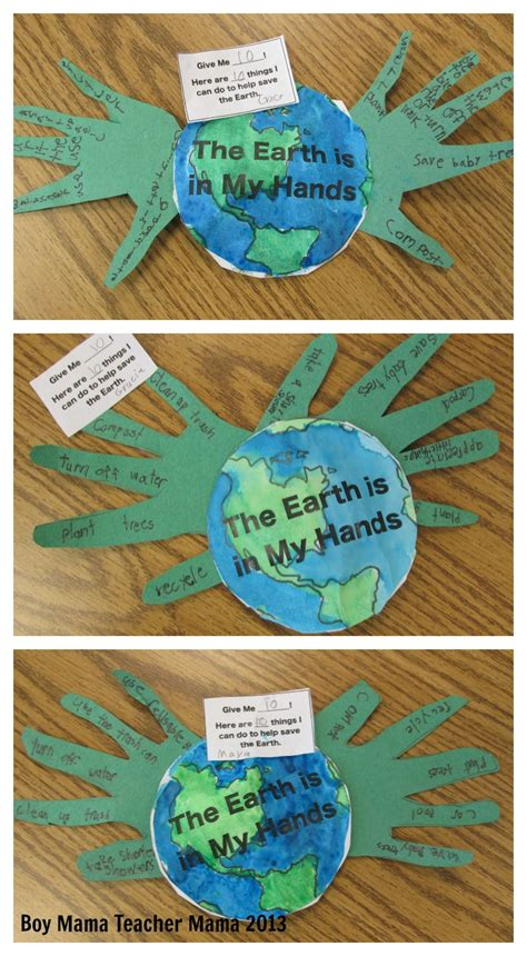 the world crafts for earth day activity boy