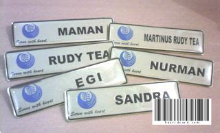 Nama Dada Name Tag Kuningan Resin Peniti Produk 10 name tag kuningan