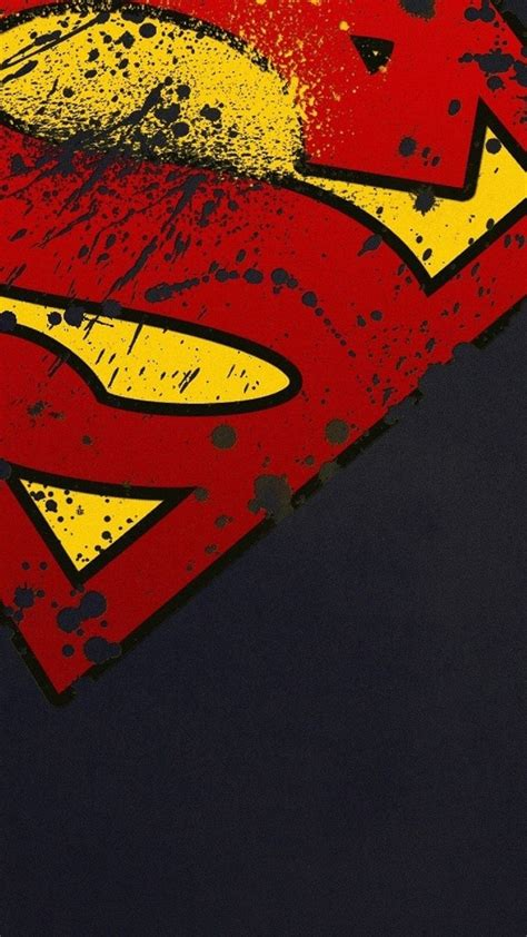wallpaper android superman superman logo minimal android wallpaper free download