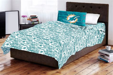 miami dolphins bedding miami dolphins twin sheet set anthem 3pc nfl bedding sheets