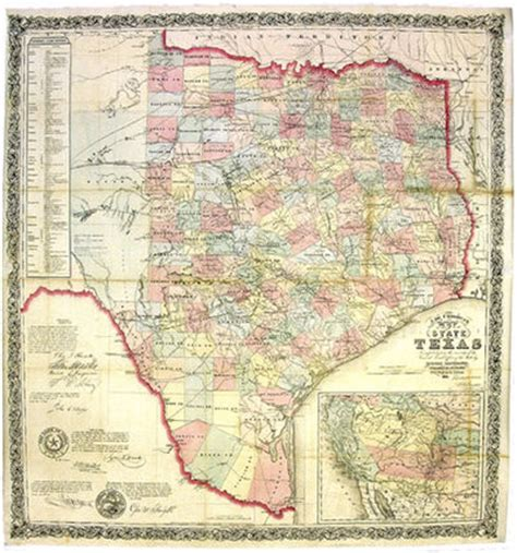 State Of Tx Records J De Cordova S Map Of The State Of Compiled From The Records Of The General