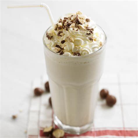 vanilla malt milkshake woman and home
