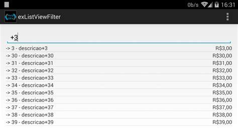 android layout listview exle help dev android filtrando dados de um listview com um