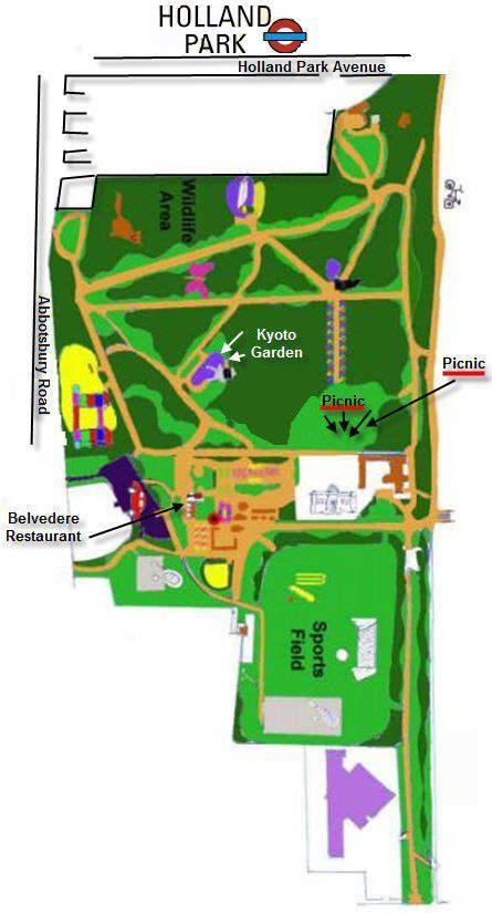 holland park london map