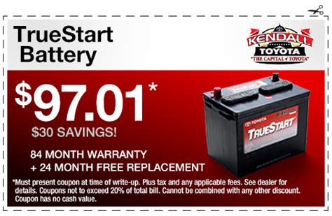 Toyota Battery Coupon Genuine Toyota Batteries Kendall Toyota