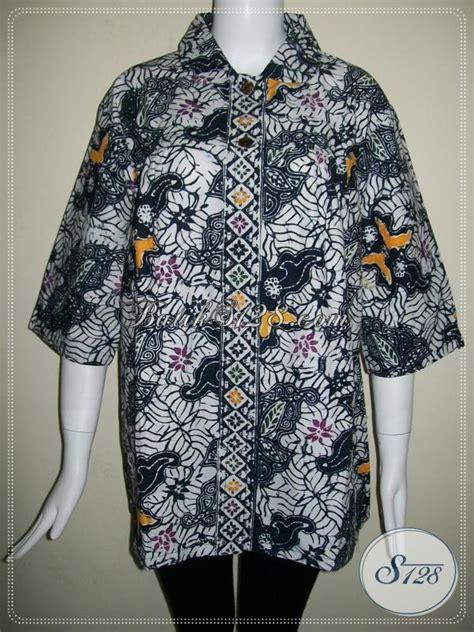 Blouse Katun 673 warna batik hitam elegan untuk blus batik wanita lengan
