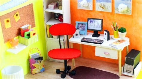 5 minute furniture diy miniature office room and furniture 20 dollhouse