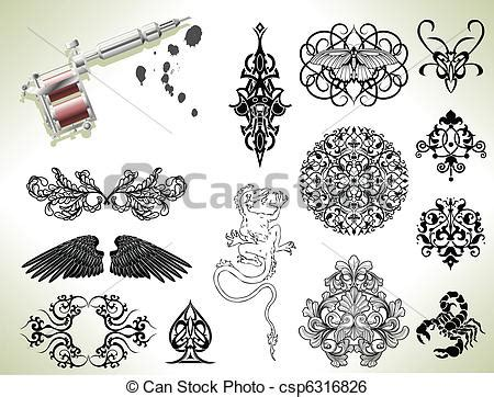 clip art vecteur de tatouage flash conception 233 l 233 ments