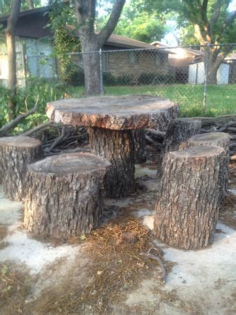 tables made from tree stumps table and chairs made out of tree stumps pretty cool