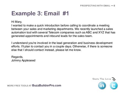Cold Emailing Templates For Prospecting Selling Email Template
