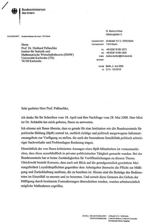 Leserbrief Schreiben Muster Zielperson Dr Ludwig Watzal 2008
